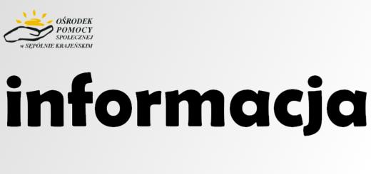 Klauzula Informacyjna dot. przetwarzania danych osobowych w Ośrodku Pomocy Społecznej w Sępólnie Krajeńskim  na podstawie obowiązku prawnego ciążącego na administratorze.